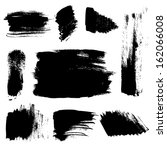 set of abstract brush strokes... | Shutterstock .eps vector #162066008
