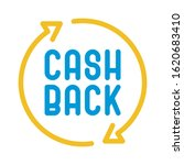 cashback line icon. cash back...