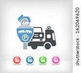 wrecker parking area | Shutterstock .eps vector #162069620