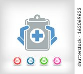medical records icon   Shutterstock .eps vector #162069623