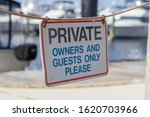 private do not enter sign...