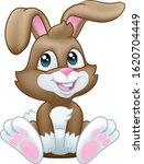 very cute easter bunny rabbit... | Shutterstock .eps vector #1620704449