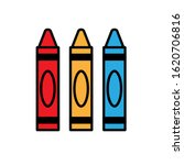 3 crayon icon. clipart image... | Shutterstock .eps vector #1620706816