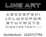 geometric line art font.... | Shutterstock .eps vector #1620717796