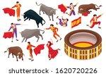 isometric bullfight set of... | Shutterstock .eps vector #1620720226