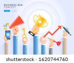 business win conceptual. group... | Shutterstock .eps vector #1620744760