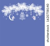 christmas arch with fir tree... | Shutterstock . vector #1620758140