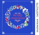 childish funny xmas greeting... | Shutterstock . vector #1620761770