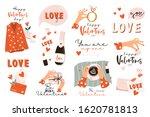 set of valentines day vector... | Shutterstock .eps vector #1620781813