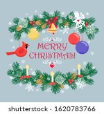 christmas greeting card with... | Shutterstock . vector #1620783766