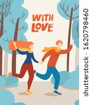 running man and woman in love... | Shutterstock .eps vector #1620798460
