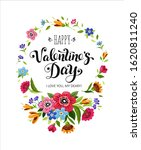 happy valentines day card.... | Shutterstock . vector #1620811240