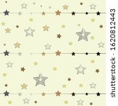 cute star pattern in gold on... | Shutterstock .eps vector #1620812443