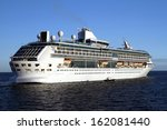 luxury cruise leaving the port... | Shutterstock . vector #162081440