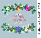 christmas greeting card with... | Shutterstock . vector #1620814963