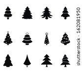 christmas trees | Shutterstock .eps vector #162081950