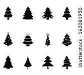 christmas trees | Shutterstock .eps vector #162081950