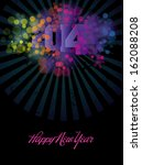 new year greeting poster...   Shutterstock .eps vector #162088208