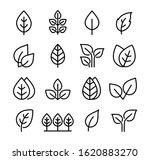 set black icons leaves ... | Shutterstock .eps vector #1620883270
