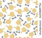 thumb up seamless pattern.... | Shutterstock .eps vector #1620889756
