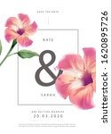 flower invitation card design... | Shutterstock .eps vector #1620895726