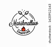 marshmallows campfire logo.... | Shutterstock .eps vector #1620912163