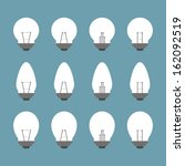 light bulbs and bulb icon set...   Shutterstock .eps vector #162092519