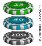 Casino Poker Chips With Cost 2...