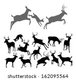 animal,antler,art,black,buck,clip,clipart,dear,deer,design,doe,drawing,element,family,fawn