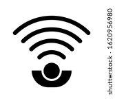 sensor icon. monochrome style ...