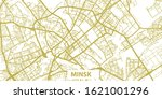 detailed vector map of minsk in ... | Shutterstock .eps vector #1621001296