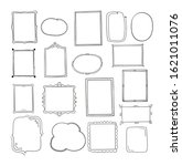 set of hand drawn vector... | Shutterstock .eps vector #1621011076