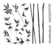 set of tropical bamboo elements.... | Shutterstock .eps vector #1621024759