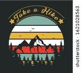 take a hike  hiking t shirt  t...   Shutterstock .eps vector #1621028563