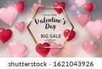 happy valentines day sale... | Shutterstock . vector #1621043926