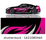 sports car wrapping decal design   Shutterstock .eps vector #1621080460