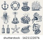 Nautical Adventure Set. Sea...