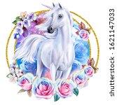 White Fairytale Unicorn With...