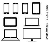 icons electronic devices with... | Shutterstock .eps vector #162114809