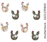 Seamless Pattern With Chicken...