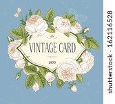 vector vintage postcard. frame... | Shutterstock .eps vector #162116528