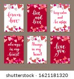 set valentine's day greeting... | Shutterstock .eps vector #1621181320
