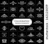 calligraphic design elements... | Shutterstock .eps vector #162123059