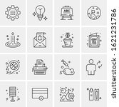 business icon set. 16 universal ...   Shutterstock .eps vector #1621231786