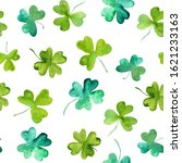 Clover Leaves Raster Watercolo...