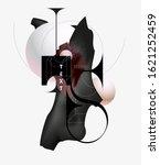 geometric poster design.... | Shutterstock .eps vector #1621252459
