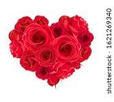 vector valentine s day heart of ... | Shutterstock .eps vector #1621269340