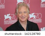 Small photo of VENICE, ITALY - SEPTEMBER 04: Alan Rickman attend 'Une Promesse' Photocall during the 70th Venice Film Festival on September 04, 2013 in Venice, Italy