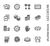 simple set of gambling related... | Shutterstock .eps vector #162130148