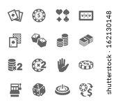 simple set of gambling related... | Shutterstock .eps vector #162130148